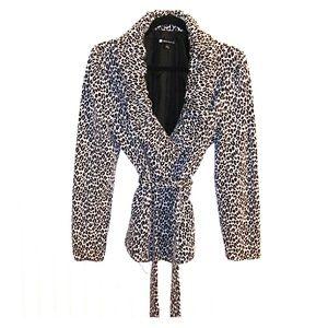 Valerie Bertinelli leopard print blazer. Size L